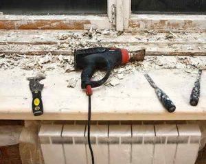 Реставрация бетонного подоконника