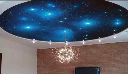 Преимущества натяжного потолка «Звёздное небо»