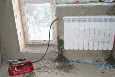 Как опрессовать систему отопления