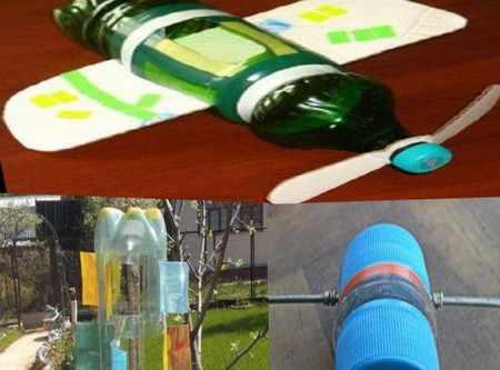 Как сделать флюгер с пропеллером из картона и бутылок