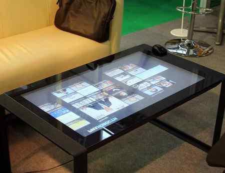 Где используются интерактивные столы
