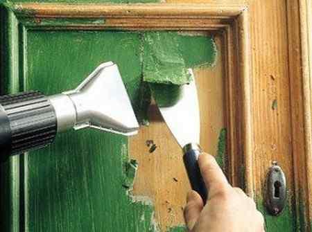 Как снять старую краску с дерева