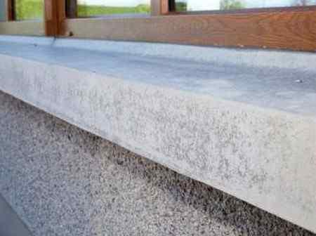 Как сделать бетонный подоконник