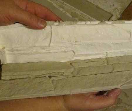 Гипс для декоративного камня - состав смеси и изготовление