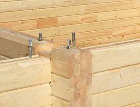 Как предотвратить усадку бани из бруса?