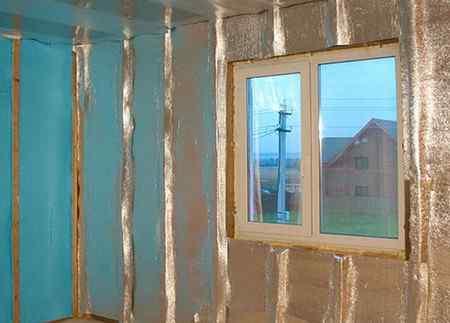 Утепление пенофолом стен и потолка дома внутри