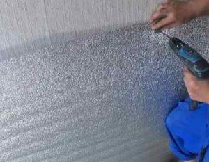 Утепление пенофолом стен изнутри дома: технология выполнения