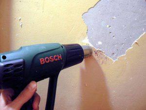 Как избавиться от старой краски на стенах - три лучших способа